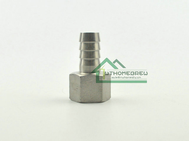 """304 SS   1/2"""" NPT x 1/2""""Barb Female Thread Beer Brew Hardware Homebrew Pipe Fitting