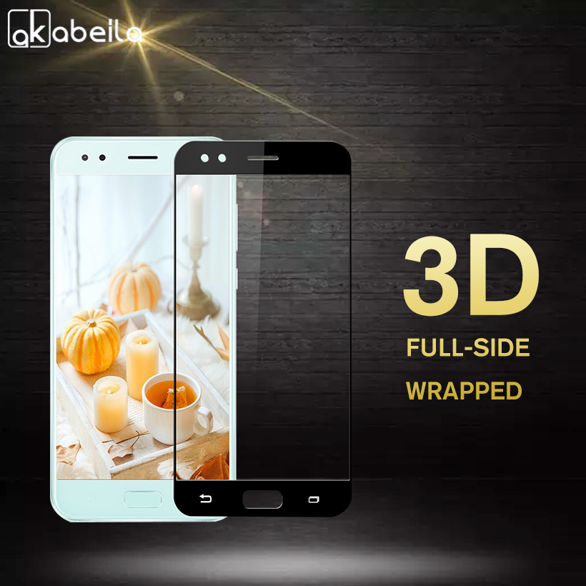 AKABEILA Tempered Glass For Asus Zenfone 4 ZE554KL ASUS_Z01KD Z01KS Z01KDA 5.5 inch Full Wrapped 3D Film