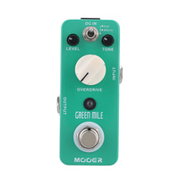 Mooer Mini Green Mile Overdrive Sound Guitar Effects Pedal With 2 Working Modes Warm Hot True