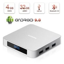 Android 9.0 AI ONE 4GB 32GB 2.4G Voice Remote RK3328 Up to1.5GHz WiFi Support 4K Full HD Bluetooth 4.0 Smart Internet TV Box цена и фото