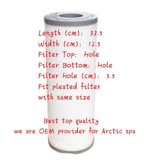 Cheap spa filter 33.5 x 12.5cm Inexpensive hot tub filter Spain Belgium New Zealand filter
