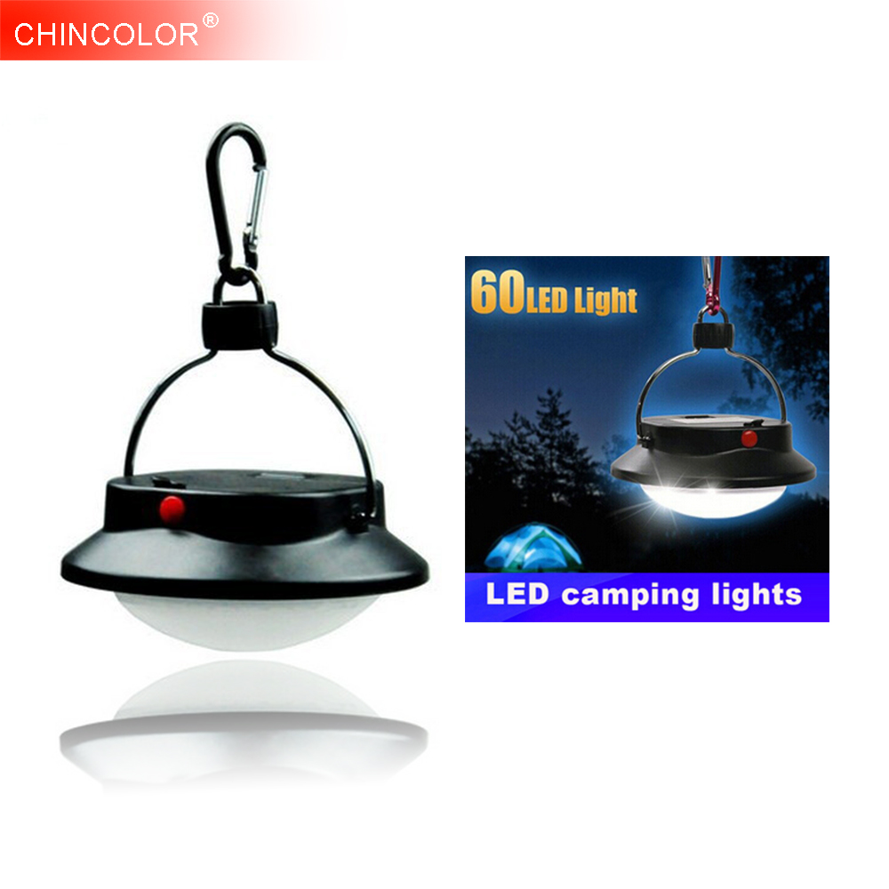 Led Portable Camp Lamp Campsite Hanging Light Waterproof 60 led 3W Circle Tent Lantern Outdoor With Lampshade Power Supply JQ