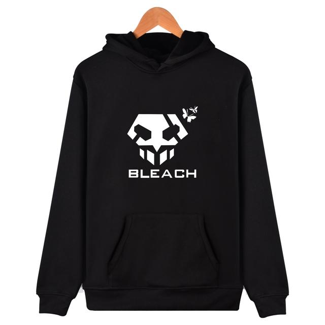 BLEACH Hoodies Men Sportswear Black Long Sleeve