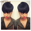 Bob Black  Synthetic Hair Wigs For Black Women Bob Cheap Female Wig  Female Short Straight  Wigs