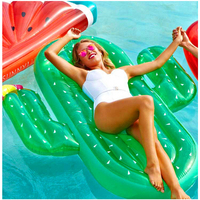 180*145CM Big Large Size Green Inflatable Cactus Floating Adult Pool Toys 1