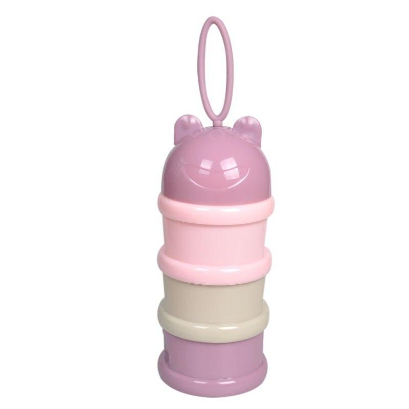 Tragbare Kunststoff Pinguin Milchpulver Box Drei Schicht Formel Dispenser Holz-nahrungsmittelbehälter Speicherbehälter Fütterung Box Für Baby Kinder Kleinkind Flaschenzuführung