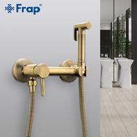 FARP Bidet faucets bronze shower head wash hygienic shower sprayer anal shower hot & cold mixer toilet spray kit bidet spray