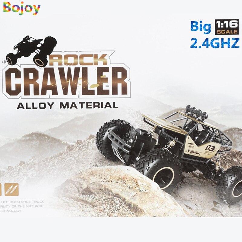Bojoy RC автомобилей 1:16 4DW 2.4 ГГц Metal Rock сканеры ралли восхождение двойной двигатели Bigfoot автомобиль дистанционного Управление модель игрушки дл...