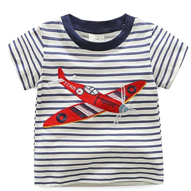 Pojkar randig tröja 2018 sommar kortärmad T-tröja barn toppar ... 64a030006c731