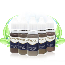 Free Shipping 6 Bottles Aimoosi Eyebrow Munsu Beauty Makeup Pigment 15ml/Bottles Permanent Tattoo Ink