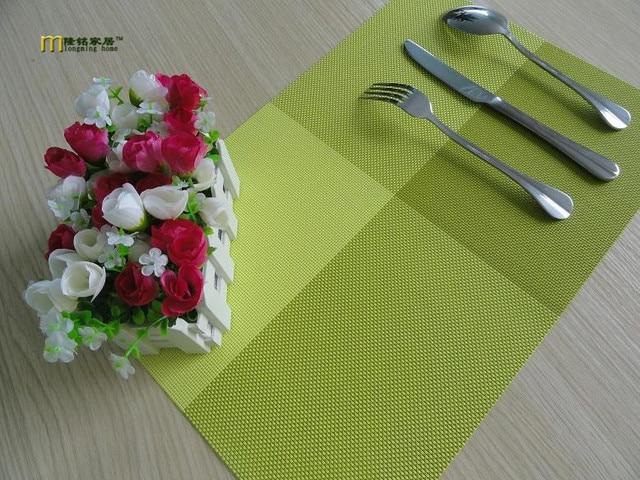 4pcs/lot Longming PVC Placemat Bar Mat,square Placemats For Table, 30*45cm  Plate Mat, Table Mat Set, Kitchen Hot Pads LB 260