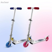 Ancheer Children Kids Foldable Adjustable Height LED 2 Wheel Kick Scooter Foot Scooters