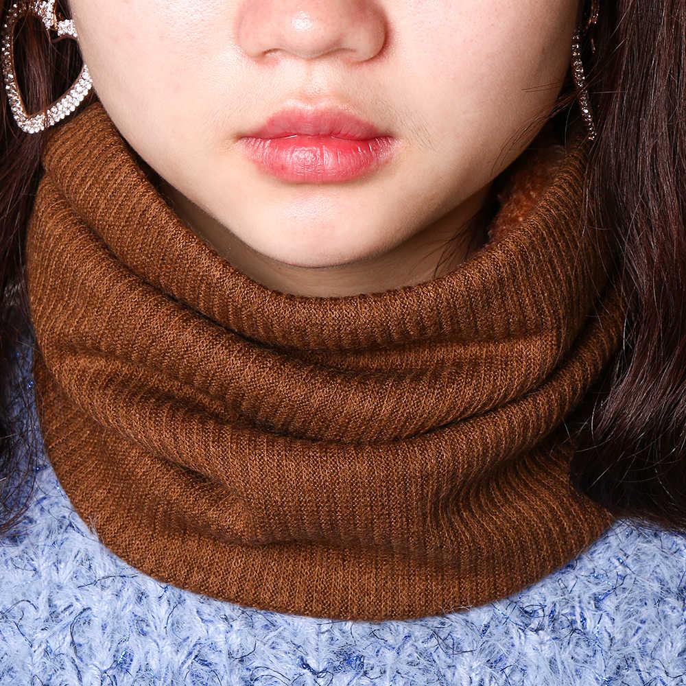 Unisex Inverno Infinity Sciarpa Collare Cavo con Faux Pelliccia di lana Scaldino del Collo Grosso Morbido di Spessore Cerchio Loop Sciarpe per la Donna uomo Nuovo
