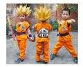 Dragon Ball Z GoKu Cosplay Traje festa de Halloween Crianças cosplay roupas Japão dragonball roupas wukong + peruca + vara 021307