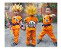 Dragon Ball Z GoKu Cosplay del partido de Halloween ropa cosplay Niños Japón dragonball wukong ropa + peluca + stick 021307