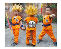 Halloween party Dragon Ball Z GoKu Cosplay Costume Children cosplay clothing Japan dragonball wukong clothes+wig+stick 021307