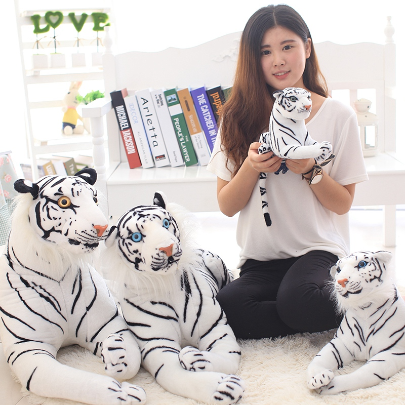 1PC 30-90CM High Quality Giant White Tiger Stuffed Toy Baby Lovely Big Size Tiger Plush Doll Soft Pillow Children Christmas Gift