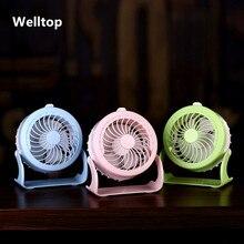 Welltop 4 режима тихий вентилятор USB Малый и прекрасный охлаждения мини настольный вентилятор 180 Вращающийся распыления вентилятор воздуха циркуляционный увлажнитель
