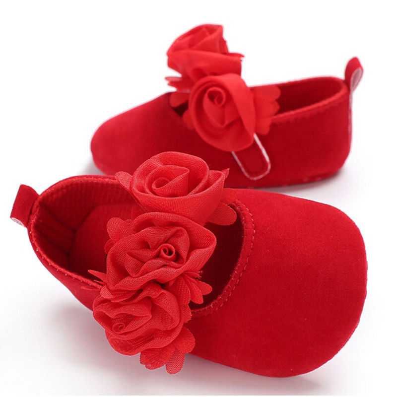 Shoes Sneaker Prewalker Flower Soft-Sole Infant Baby-Girls Princess Flock Floral 4styles