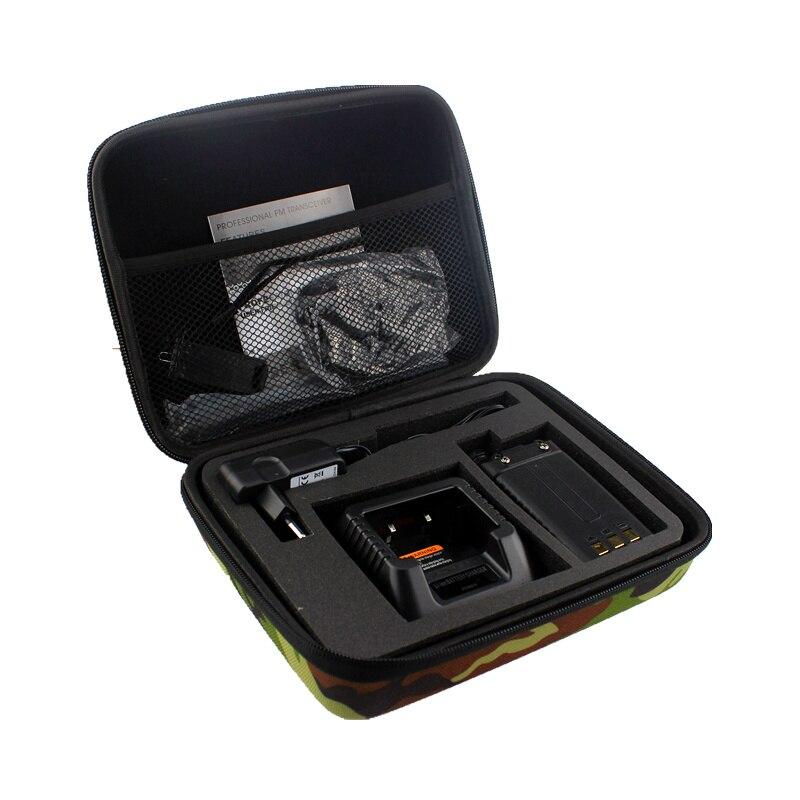Walkie talkie caso carring bolsa de armazenamento para baofeng UV-5R/5re plus retevis rádio em dois sentidos lançamento caça saco camuflagem rádio