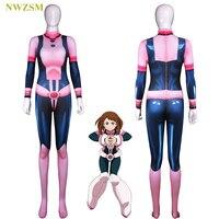 Anime My Hero Academia Lycra 3D Printed Bodysuit Boku no Hero Academia Pink Zentai Adult Kids Cosplay Costume