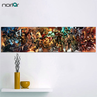 HD Printed Super Long Picture Marvel Comics Characters Canvas Painting The AVENGERS Superhero Wall Art Poster