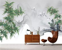 beibehang wall paper Modern new Chinese hand-painted ink bamboo custom background decorative painting papel de parede wallpaper beibehang custom silk cloth wall paper american hand painted rose flower rattan modern background papel de parede 3d wallpaper