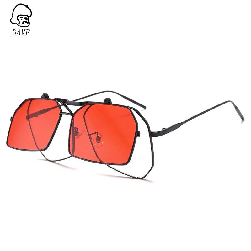 Дэйв панк флип Солнцезащитные очки для женщин Для женщин негабаритных квадратные Солнцезащитные очки для женщин Для мужчин Брендовая диза...