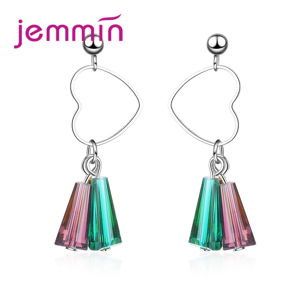 JEMMIN Womens Holiday Essential Jewelry High Quality Pendant Earrings 925 Sterling Silver Romantic Crystal Female Anillos GiftJEMMIN Womens Holiday Essential Jewelry High Quality Pendant Earrings 925 Sterling Silver Romantic Crystal Female Anillos Gift