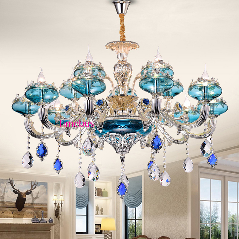 Lights & Lighting European Style Luxury Crystal Ceiling Lamp Led Hall Round The Living Room Bedroom Restaurant Hotel Ceiling Lights 110-240v High Quality