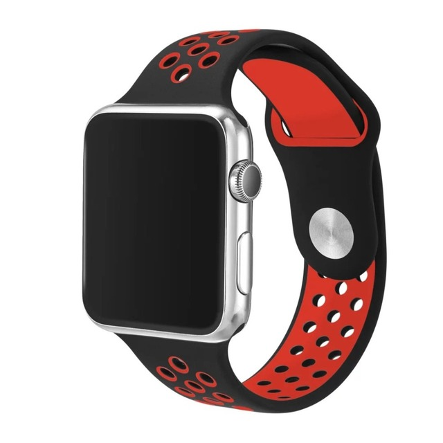 Silicone Sports Band for Apple Watch Strap 38mm 42mm 1:1 Original Rubber Watchband for iWatch Series1 Series2