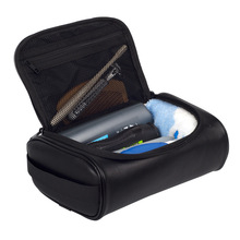 Men's PU Leather Cosmetic Bag Cases Travel Necessary Beauty Makeup Toiletries To