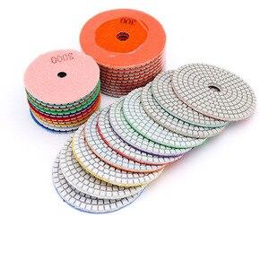 """Image 2 - 4 """"100mm 80mm 다이아몬드 습식 연마 패드 다이아몬드 연마 디스크 화강암 대리석 콘크리트 석재 연마 연삭 디스크 도구"""