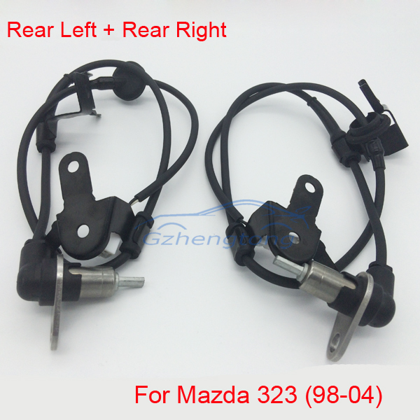 2pcs/ Set Rear Right and Rear Left ABS Wheel Speed Sensor for Mazda 323 VI 323F 323S MK6 98-04 B25D-43-71YB  B25D-43-72YB