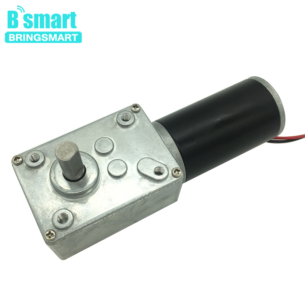 Bringsmart High Torque Worm Motor A58SW31ZY DC 12v Reduction Geared Turbine Machine 7-470rpm Low Speed Micro Self Lock GearboxBringsmart High Torque Worm Motor A58SW31ZY DC 12v Reduction Geared Turbine Machine 7-470rpm Low Speed Micro Self Lock Gearbox