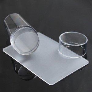 Image 3 - Rascador de uñas de silicona con tapa transparente 3cm herramienta de estampado de uñas