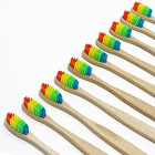 1Pcs Colorful Wood Soft Bamboo Toothbrush Bamboo Charcoal Soft Travl Toothbrush Rainbow Mini Oral Care Cheaper Medium Brushes