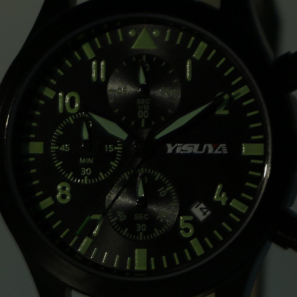 YISUYA Mens Watch Army Sport Analog Day Date Quartz Calendar Pilot Stylish Male Chronograph Aviator relogio masculino (3)