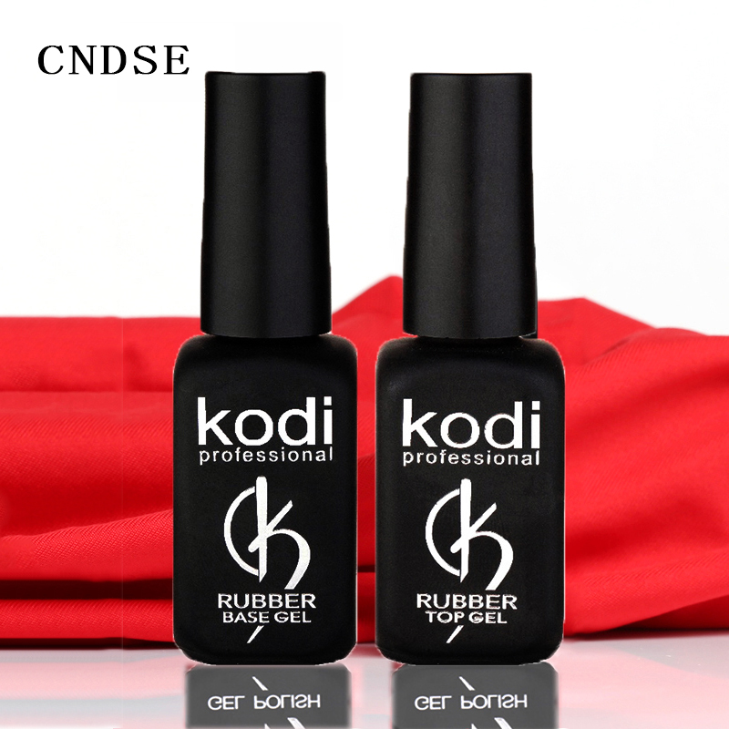 Kodi Gel Gummi Basis Und Decklack 12 ml UV Harz LED lack unhas de gel gelLak Vernis Semi Permanent GelPolish Primer Lack