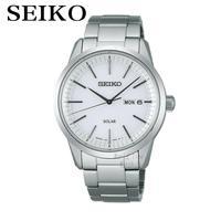 SEIKO Men S Table Spirit Solar Business Leisure Quartz Watch Waterproof Men S Steel Strap Watch