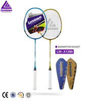 1 Pcs High Grade Lenwave Carbon Racket Badminton Racket Fast Delivery Sports Training