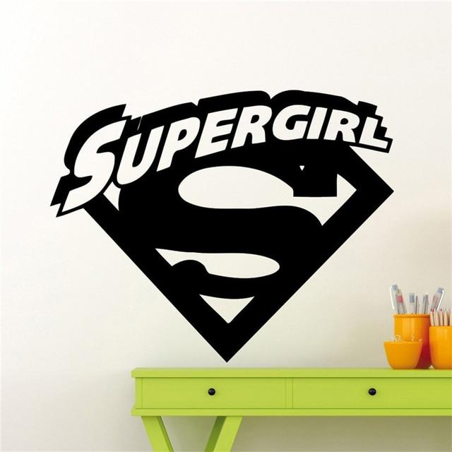supergirl logo wall decal cartoons comics superhero wall sticker