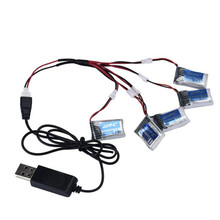 High Quality 5X 3.7V 150mAh 20C Battery And USB Cable Set For JJRC H20 RC Quadcopter Toys Wholesale