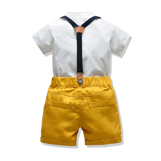 Baby Boy's Summer Clothing Set with Suspenders 3