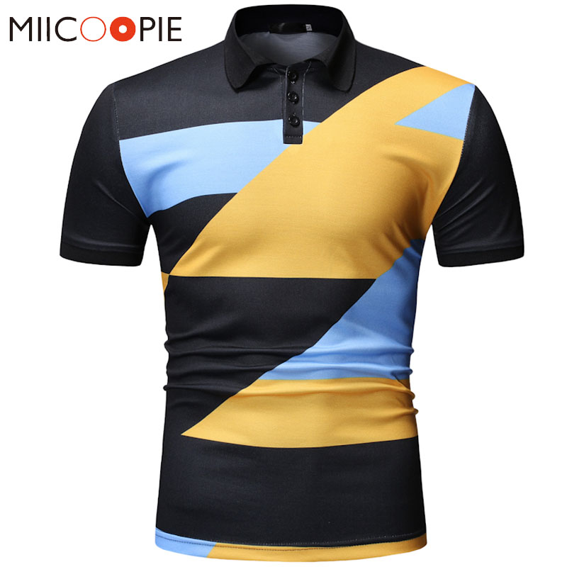 Men   Polo   Shirt 2019 Summer Casual Business Camisa   Polo   Contrant Color Short Sleeve   Polos   Hombre Mens Clothing M-XXXL