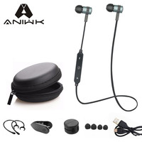 Aniwk Sport Running Bluetooth Headset Wireless Earphone Headphone Bluetooth Earpiece With Mic Stereo Earbuds For