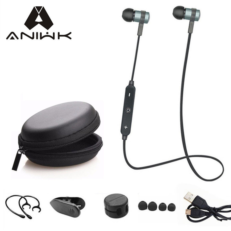 buy aniwk sport running bluetooth headset wireless earphone headphone bluetooth. Black Bedroom Furniture Sets. Home Design Ideas