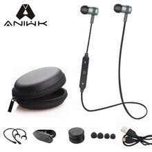 Aniwk Спорт Бег Bluetooth-гарнитура Беспроводные Наушники Наушники Bluetooth Наушники С Микрофоном Стерео Наушники Для всех телефонов