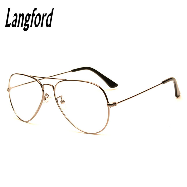 7b09a8393e5 langford brand optical eyeglasses frame Vintage big frame Prescription  glasses classic spectacle frames Double Bridge360