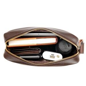Image 5 - 2020 ใหม่ผู้ชาย Messenger กระเป๋าหนังกระเป๋าสะพายชาย Casual MINI FLAP back Pack Man ธุรกิจ IPAD กระเป๋า Messenger
